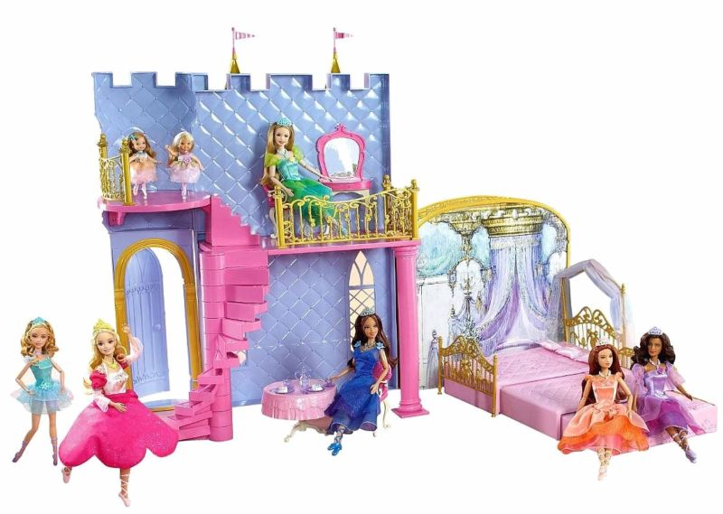 barbie and the 12 dancing princesses magical dance castle playset