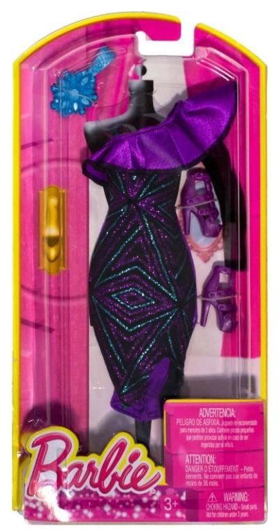 Barbie Fashion Pack One Shoulder Ruffle Sequin Gown Bcn58