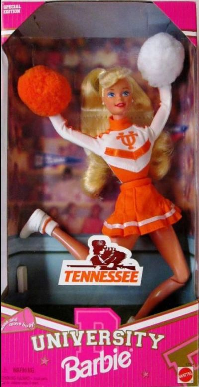 University of Tennessee Barbie Cheerleader